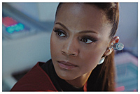 Zoe Saldana in Star Trek